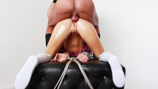 Naughty Cute Teasing School Girl Tied Up & Punished For Not Doing Homework
