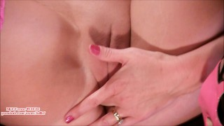Preview 5 of Guy watches hot MILF finger & squirt b4 porno shoot (faffef)
