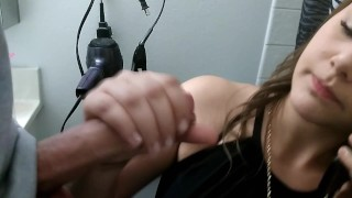 Sucking Dick While On The Phone - Multitasking!  homemade bj close-up home-made mya-lane cumshot bathroom handjob sucking-dick phone brunette ryland-ryker swallow slut cum-in-mouth on-the-phone