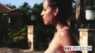 Preview 4 of Big Tits Latina MILF Fucks The Pool Boy