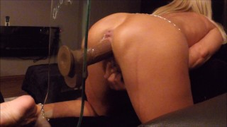 masturbate female-friendly big-black-dildo suction-cup-dildo solo-creamy-orgasm solo-orgasm tanned-wife riding-hard-and-fast hot-milf horny-milf horny-wife-amateur amateur-milf