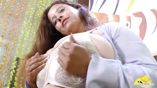 Big titted latin mature does striptease