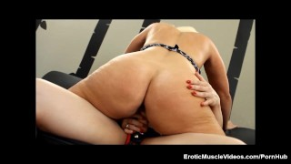 EroticMuscleVideos Lesbian Fbb Muscles, Huge Amazon Titties And Strapons!  italian female-bodybuilder big-clit strapon amazon big-tits adult-toys lesbo big-nipples big-boobs fake-tits fitness milf eroticmusclevideos girl-on-girl fbb muscle