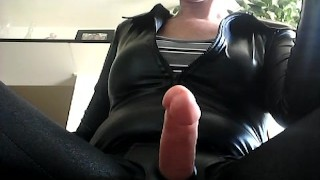 Strapon stroking and cigarette smoking for subs to learn how to do it! hardcore redhead tattoo roleplay short-hair adult-toys piercing latina masturbate strapon milf-pov smoking-fetish domme