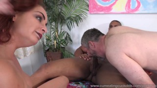 Ashley Graham Loves Big Cock Not Her Husbands  redhead 3some wife masturbation bisexual husband riding big-cock cumeatingcuckolds cum-eating cum-shot natural-tits threesome cowgirl cuckold bull
