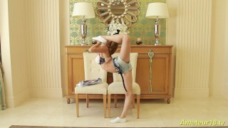 real flexible skinny teen gymnast
