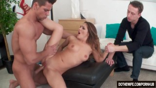 Hot MILF fucked in front of husband  hardcore mother housewife dominica-phoenix cuckold couple wife dothewife mom blowjob