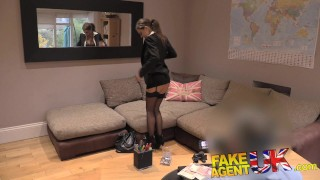 Fake Agent UK Euro babes peachy arse fingered and fucked in casting  lithuanian british uk shaven-pussy fakeagentuk amateur blowjob pov casting busty ass-fuck hardcore reality fingering cum-shot anal perfect-ass interview