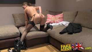 Fake Agent UK Euro babes peachy arse fingered and fucked in casting  british uk shaven-pussy amateur blowjob pov casting busty ass-fuck hardcore reality fingering cum-shot anal perfect-ass interview fakeagentuk lithuanian