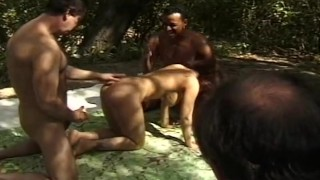 Outdoor Double Penetration Experience  wives swingers hotwife cuckold fucking screwmywifeclub milf cumshots married 3some cougar threesome anal housewife
