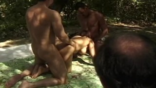 Outdoor Double Penetration Experience  3some milf wives fucking cumshots cougar screwmywifeclub swingers hotwife threesome anal cuckold housewife married