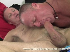 XXL Cock Stone Dixon Pumps and gets sucked by muscle man Rex Wood