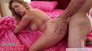 MILF Cherie DeVille seduces her son's friend in the shower Naughty America  seduction cherie-deville shower-sex big-tits blowjob mom thick shower pounded curvy butt hot-mom mother hard-rough-sex hard doggystyle mysistershotfriend