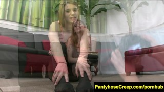 FetishNetwork Alice March pantyhose slut  teen outside nylon voyeur public fetish young pantyhose kink petite fetishnetwork feet small-tits legs stockings teenager