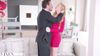 VIXEN Kendra Sunderland has sexecutive meeting with her boss  riding big-tits spoon pussy-licking vixen blonde blowjob big-boobs reverse-cowgirl cowgirl spooning big-dick doggystyle facial