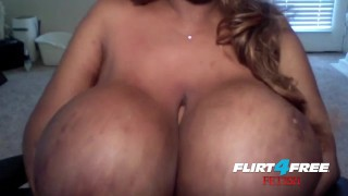 Ebony Mistress Crushes Sub With HUGE TITS  bdsm tit-fuck submission verbal-domination tittyfuck goddess black big-boobs fetish domination kinky joi flirt4freefetish breast-smothering huge-fake-tits ebony-queen