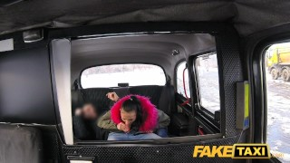 Fake Taxi Big natural bouncing tits brunette in Czech taxi  teen point-of-view sexy innocent blowjob public pov camera faketaxi young spycam car reality cute teenager