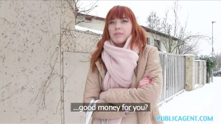 Public Agent German Redhead Loves Cock  outdoors ginger outside point-of-view sex-for-cash amateur cumshot public real camcorder sex-for-money publicagent sex-with-stranger