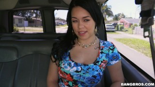 Cuban Babe deserving of dick gets picked up (bb14968)  outside booty big-ass amateur public big-boobs hardcore big-butt brunette cowgirl butt latina latin kimmy-kush sex-van bangbus