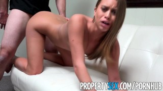 PropertySex - Stunner interviews for job with top real estate agency  masturbation babe point-of-view blowjob amateur stunning cumshot propertysex hardcore pantyhose cowgirl brunette small-tits real-estate-agent doggystyle job-interview