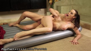 NuruMassage Stop Teasing and Fuck me in the Ass!  nuru-massage big-tits mom blowjob big-boobs fake-tits massage anal-sex bathroom shower ass-fuck nurumassage brunette mother anal nuru