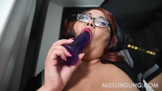Asian BBW Miss Ling Ling Masturbates in Window for All to See big-boobs exotic-bbw plumperpass chubby fat-tits